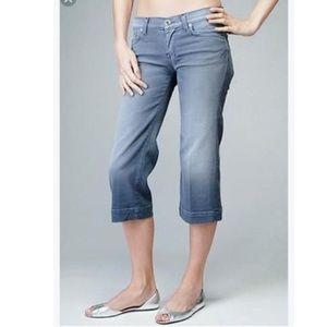 7 for all mankind Dusty Blue Crop Dojo Jeans 26